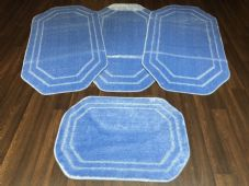 ROMANY WASHABLES NEW GYPSY SETS OF 4PCS LIGHT BLUE MATS NON SLIP TOURER SIZE